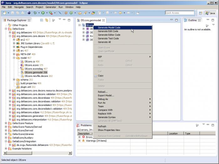 Generating the model code